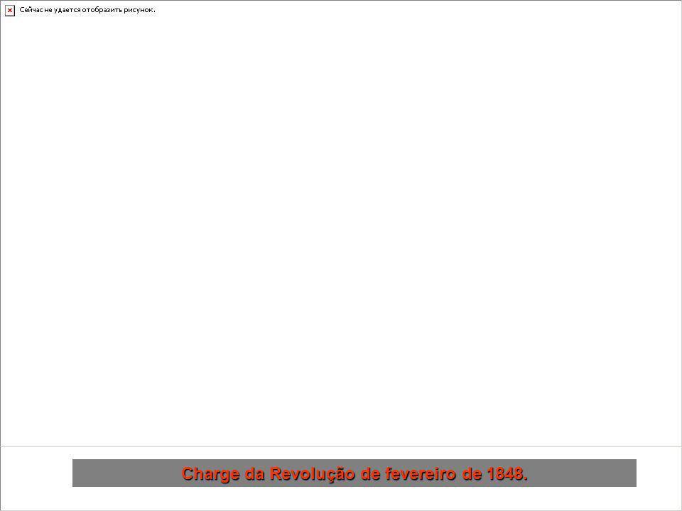 Charge da Revolução de fevereiro de 1848.