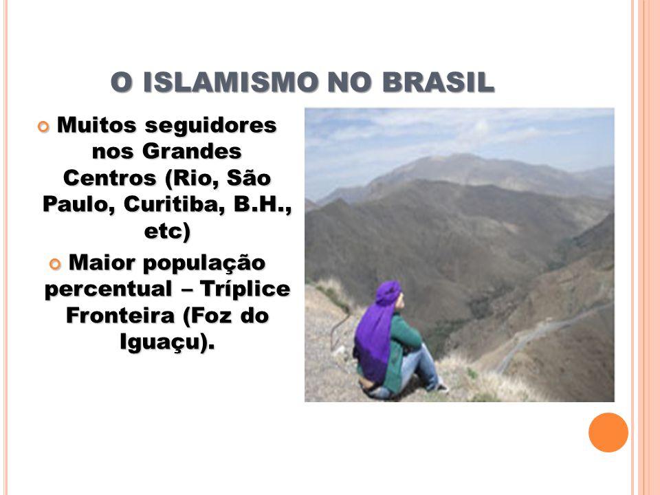 Maior população percentual – Tríplice Fronteira (Foz do Iguaçu).