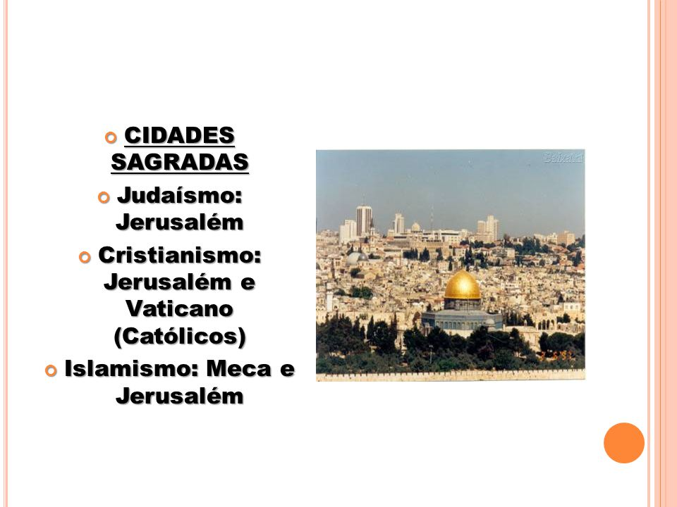 Cristianismo: Jerusalém e Vaticano (Católicos)