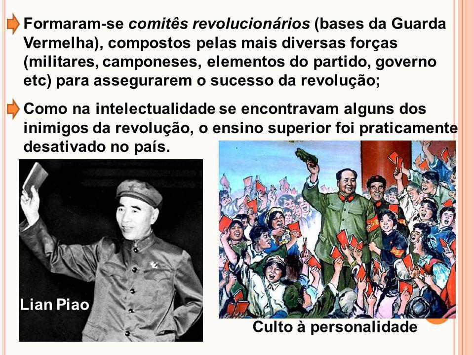 Formaram-se comitês revolucionários (bases da Guarda Vermelha), compostos pelas mais diversas forças (militares, camponeses, elementos do partido, governo etc) para assegurarem o sucesso da revolução;