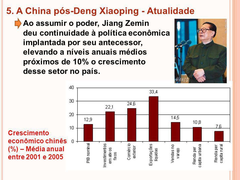 5. A China pós-Deng Xiaoping - Atualidade
