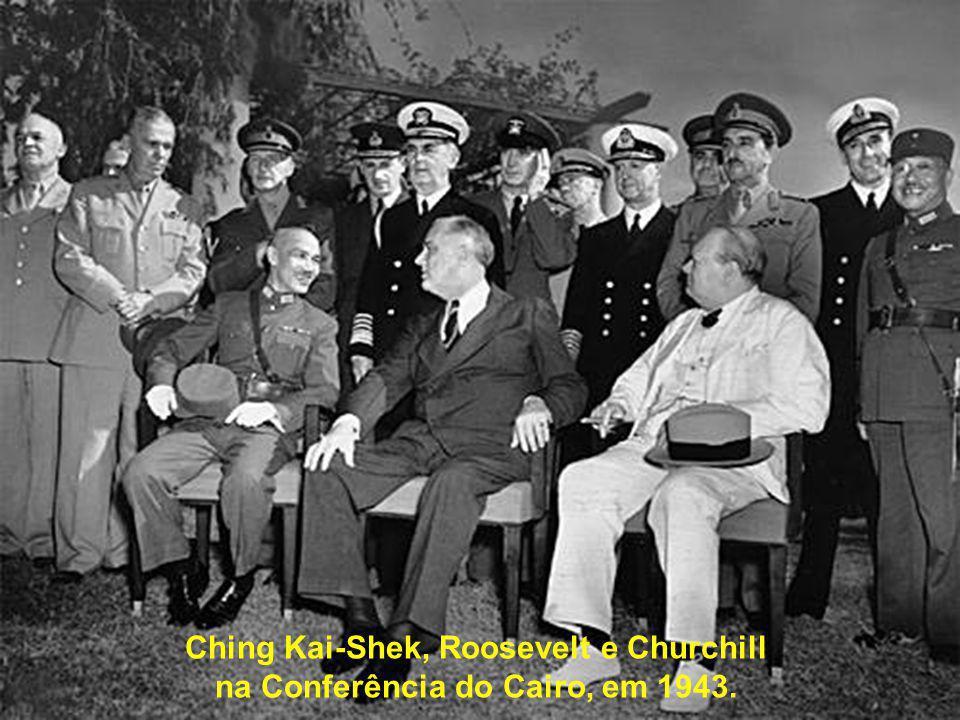 Ching Kai-Shek, Roosevelt e Churchill