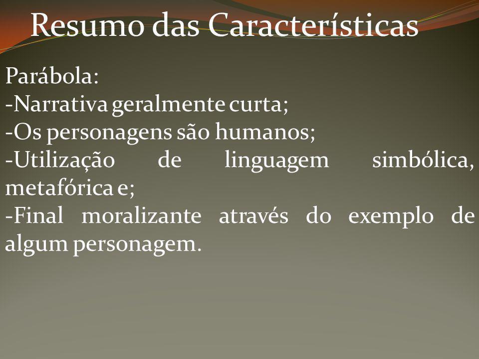 Resumo das Características