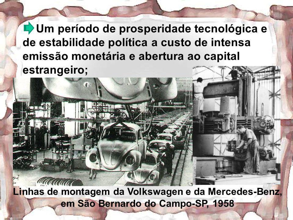 Um período de prosperidade tecnológica e de estabilidade política a custo de intensa emissão monetária e abertura ao capital estrangeiro;