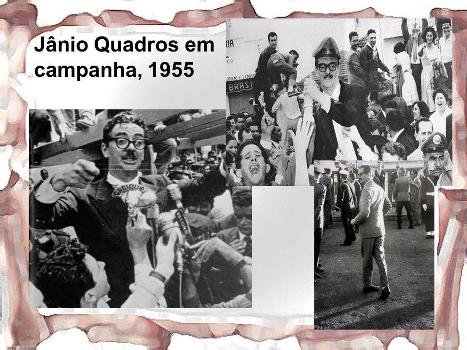 Jânio Quadros em campanha, 1955