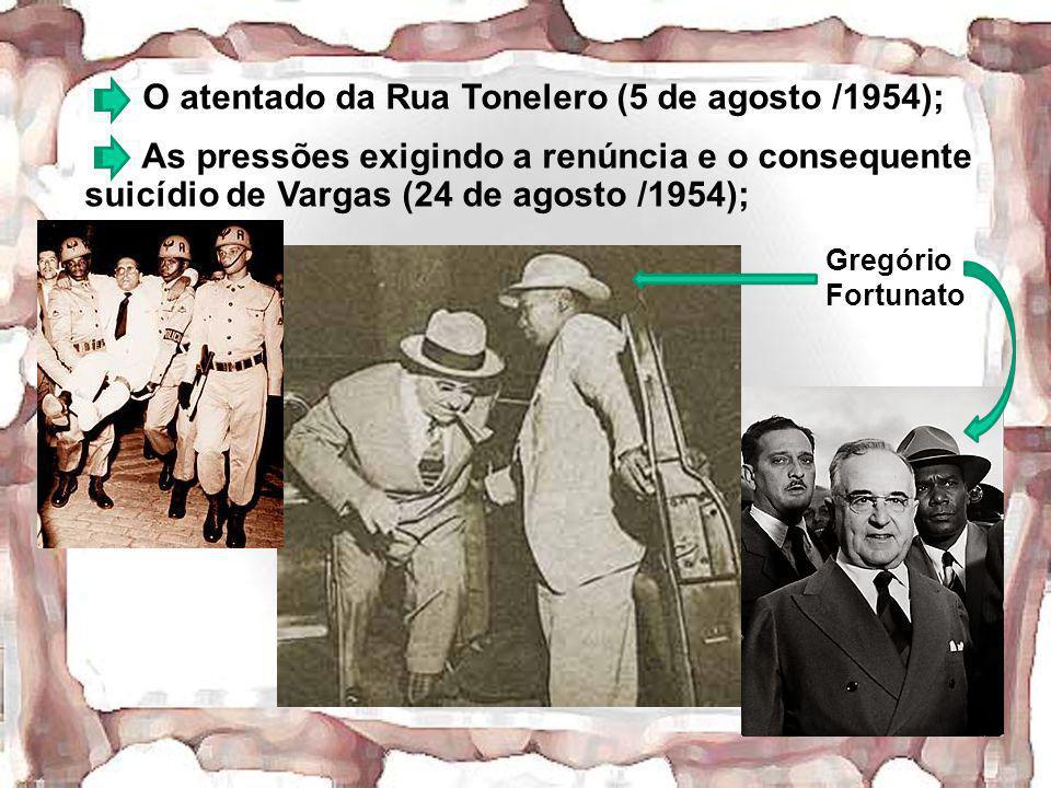 O atentado da Rua Tonelero (5 de agosto /1954);