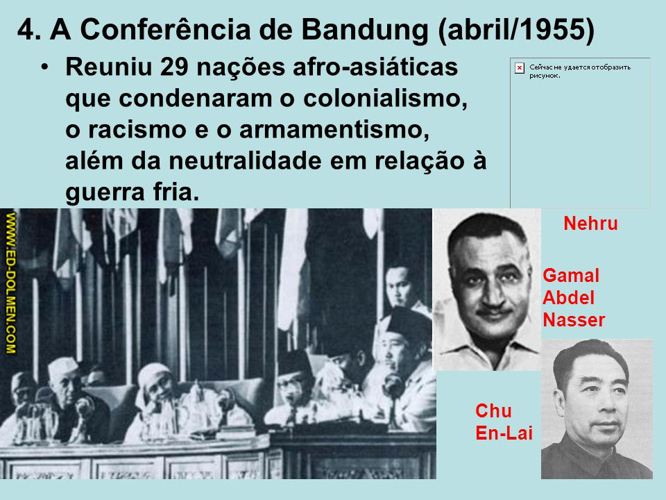 4. A Conferência de Bandung (abril/1955)