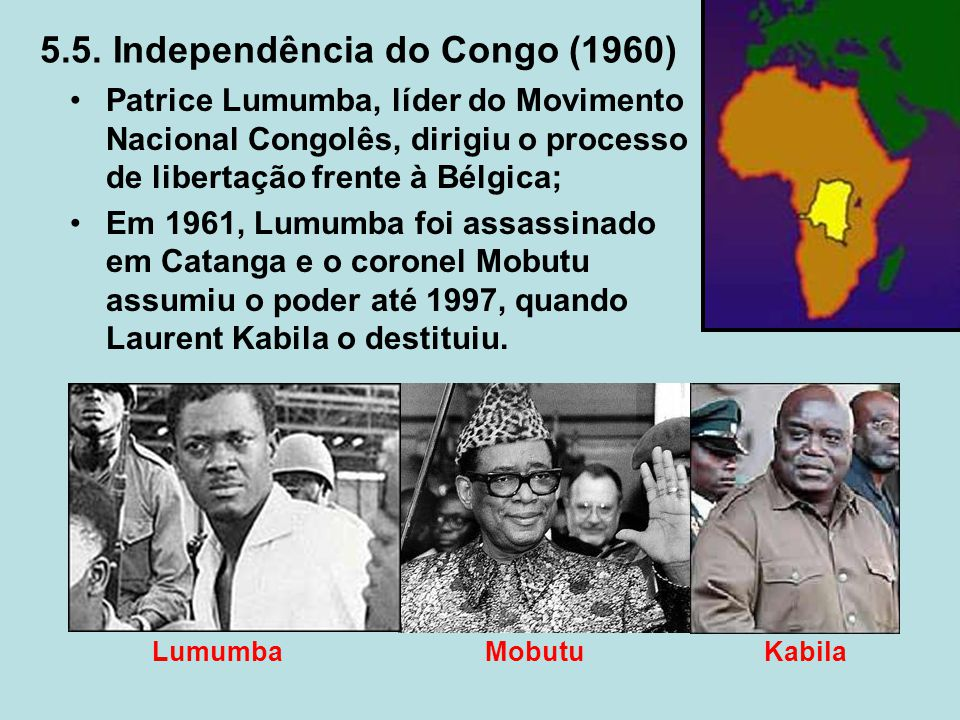 5.5. Independência do Congo (1960)