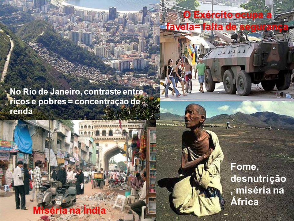 favela= falta de segurança
