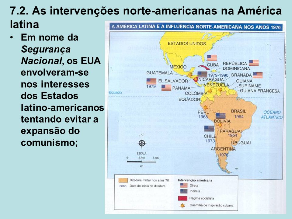 7.2. As intervenções norte-americanas na América latina