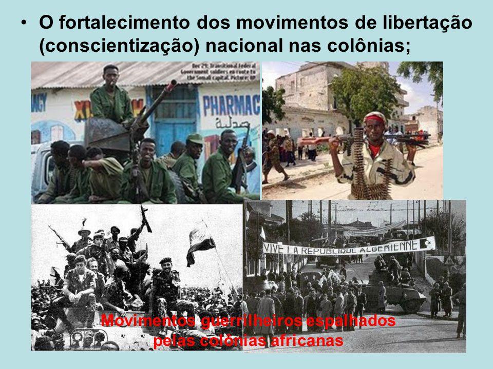 Movimentos guerrilheiros espalhados pelas colônias africanas