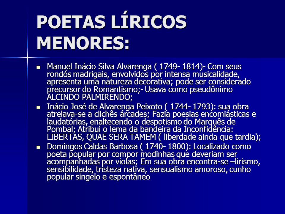 POETAS LÍRICOS MENORES: