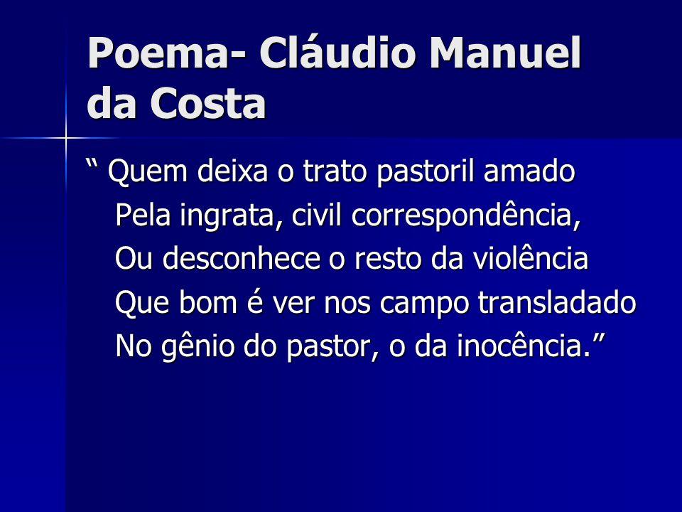 Poema- Cláudio Manuel da Costa