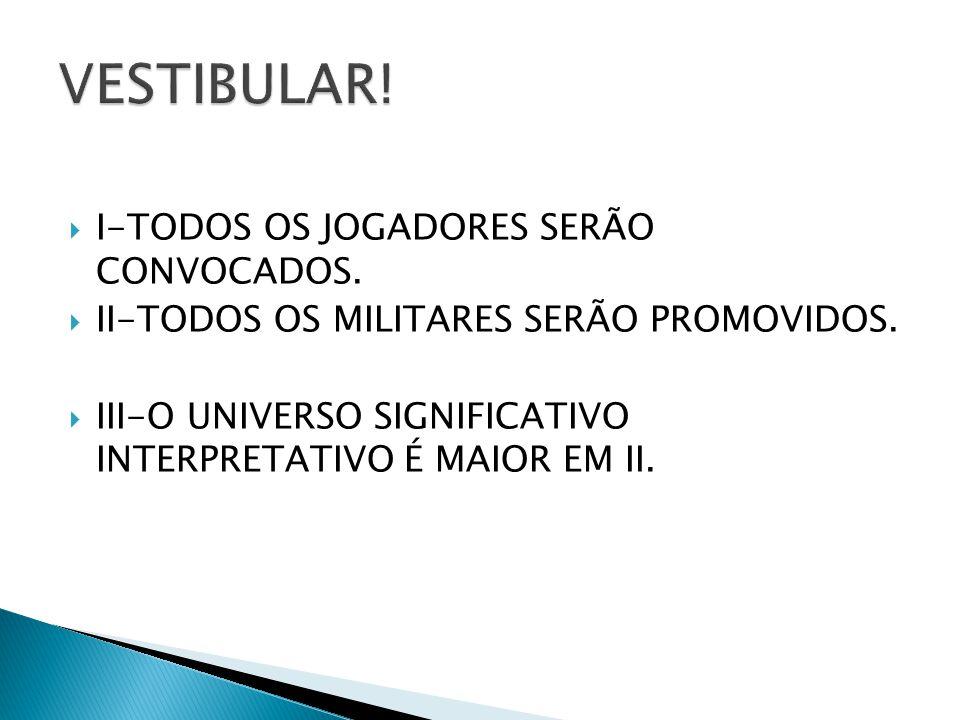 VESTIBULAR! I-TODOS OS JOGADORES SERÃO CONVOCADOS.