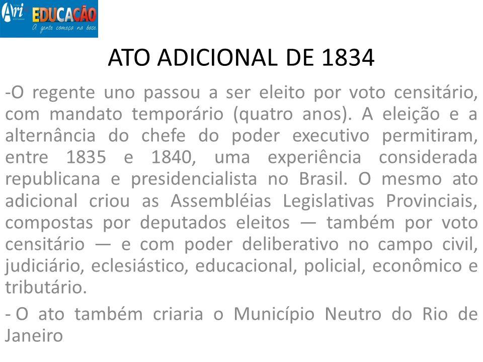 ATO ADICIONAL DE 1834