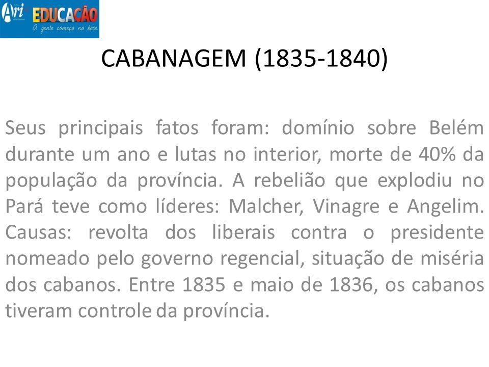 CABANAGEM (1835-1840)