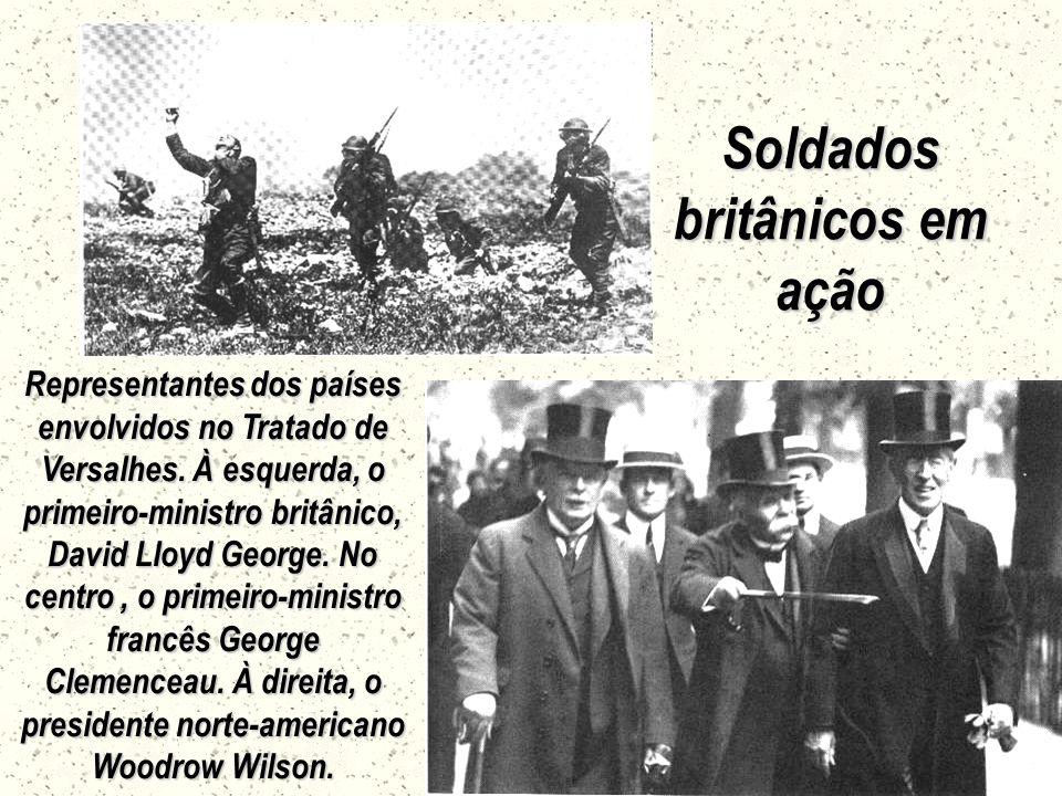 Soldados britânicos em ação