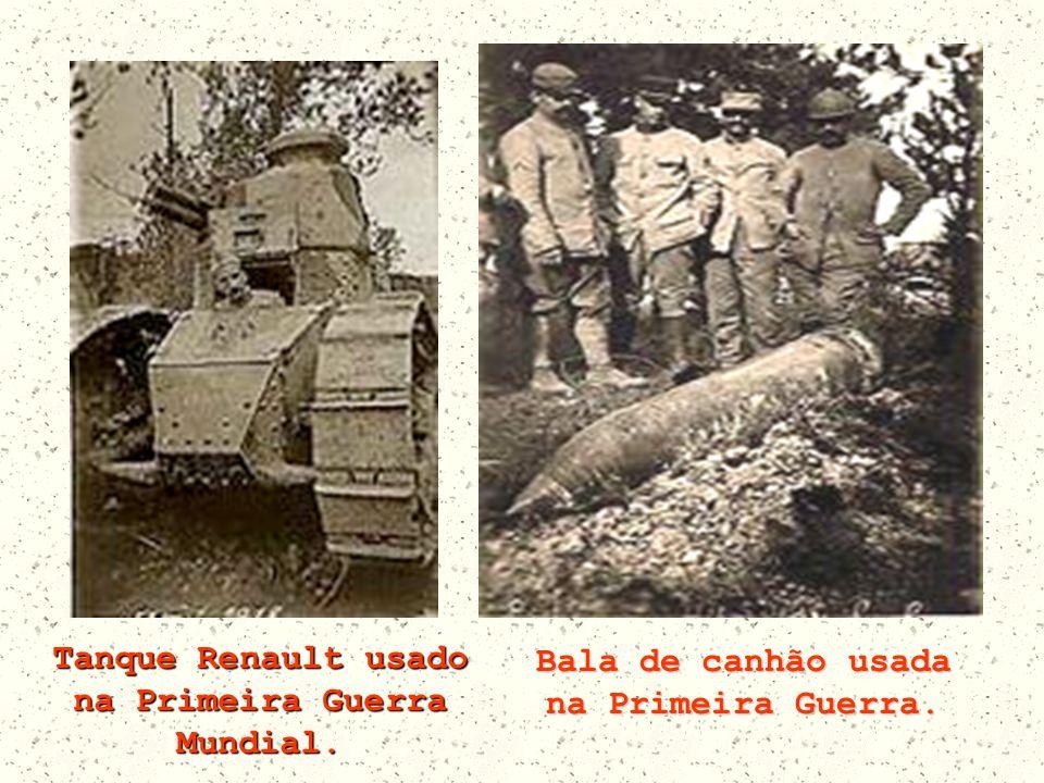 Tanque Renault usado na Primeira Guerra Mundial.