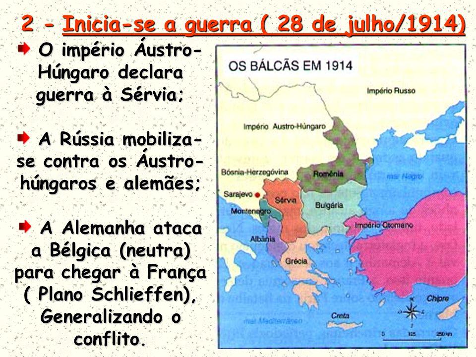 2 - Inicia-se a guerra ( 28 de julho/1914)