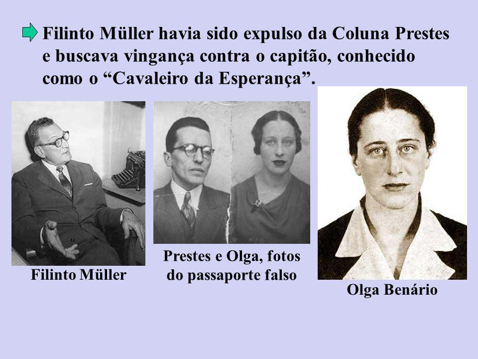 Prestes e Olga, fotos do passaporte falso
