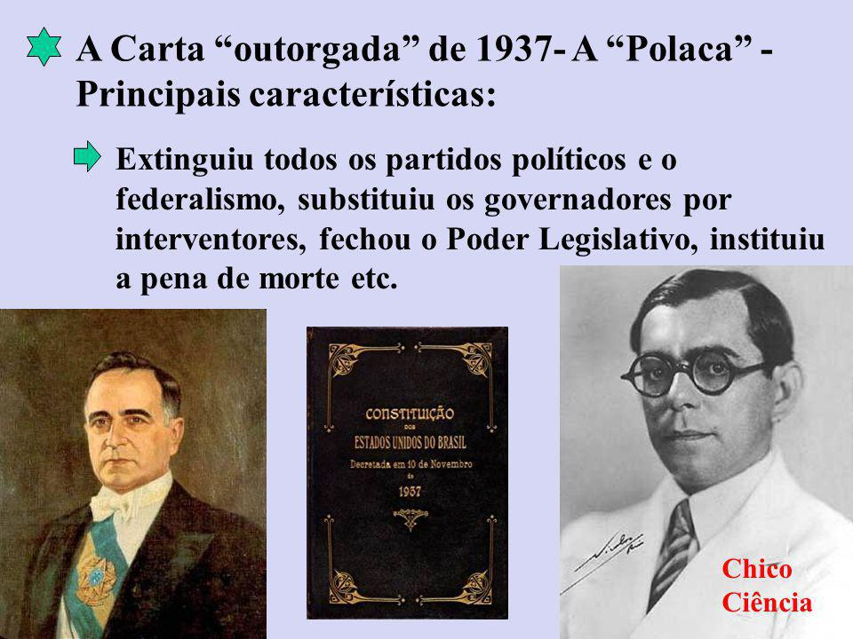 A Carta outorgada de 1937- A Polaca -Principais características: