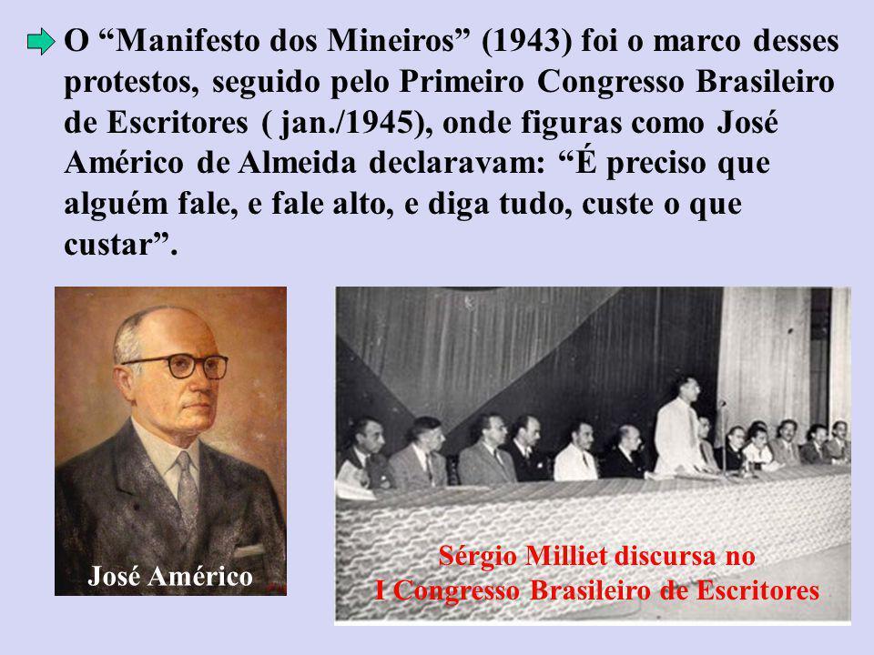 Sérgio Milliet discursa no I Congresso Brasileiro de Escritores