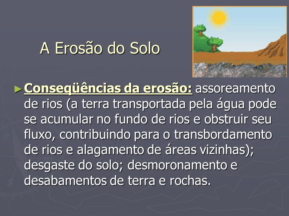 A Erosão do Solo