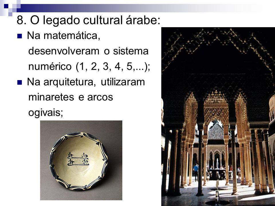 8. O legado cultural árabe: