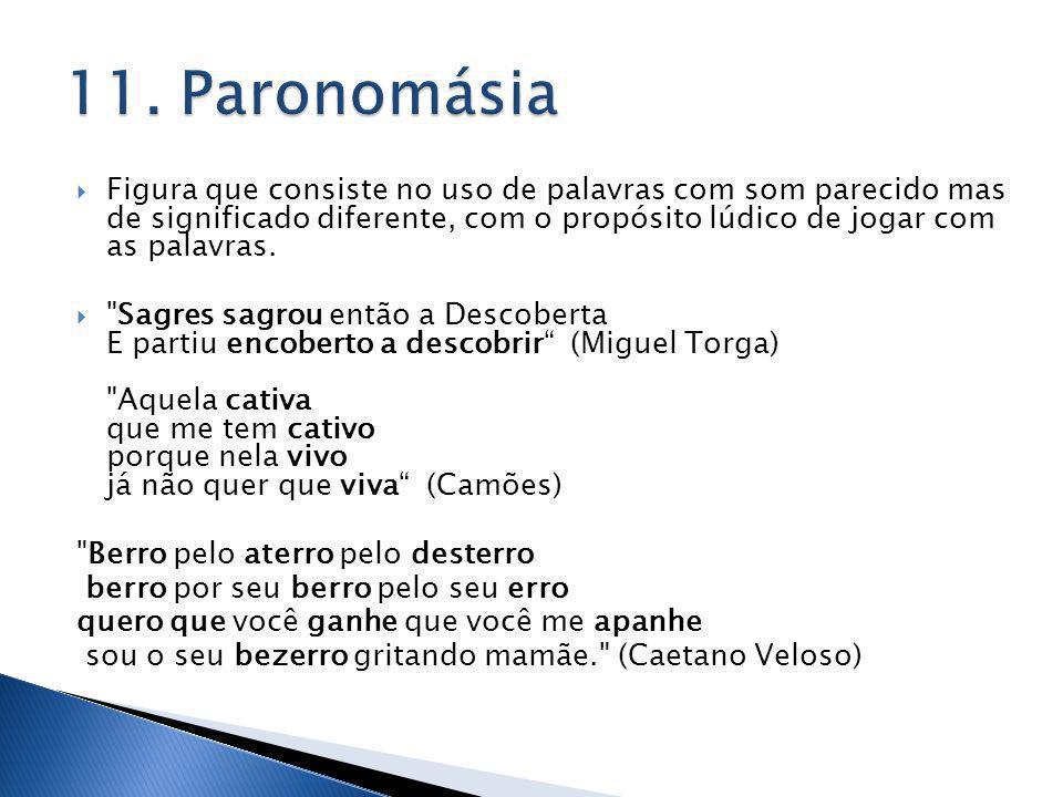 11. Paronomásia