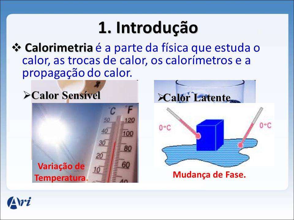 Variação de Temperatura.