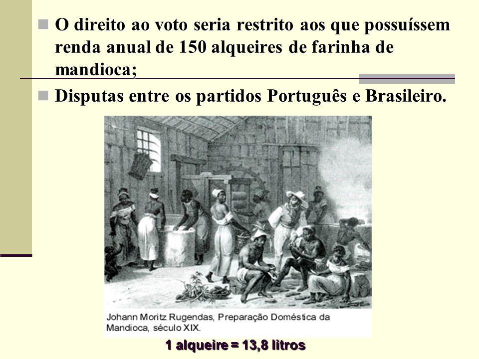 Disputas entre os partidos Português e Brasileiro.