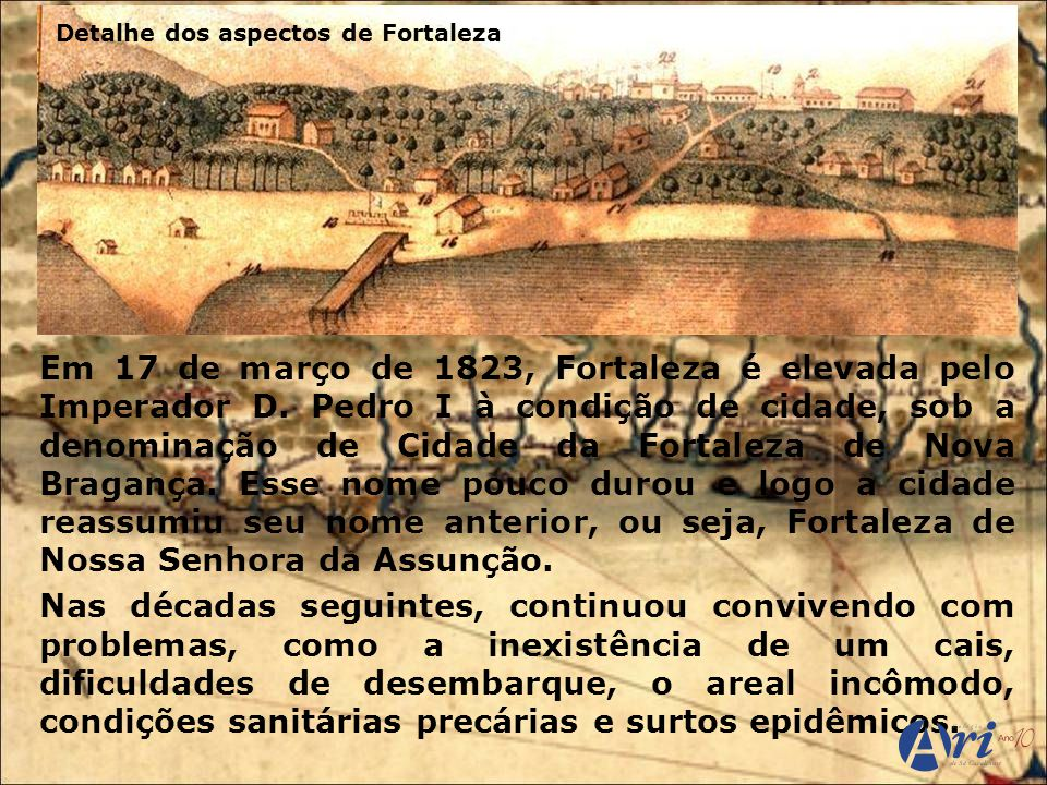 Detalhe dos aspectos de Fortaleza