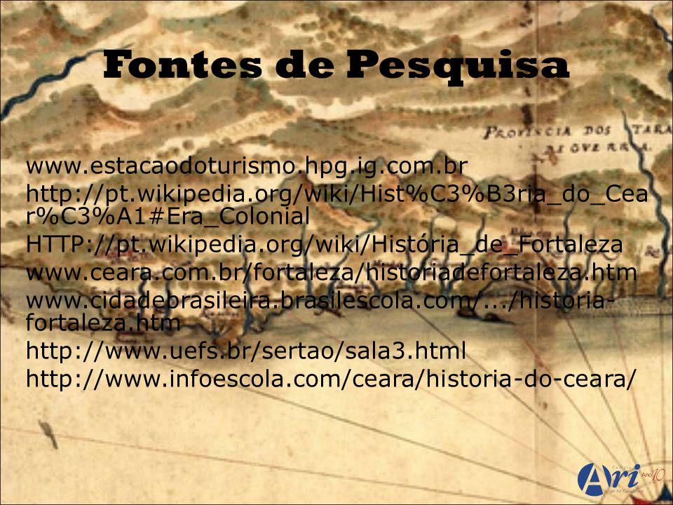 Fontes de Pesquisa www.estacaodoturismo.hpg.ig.com.br