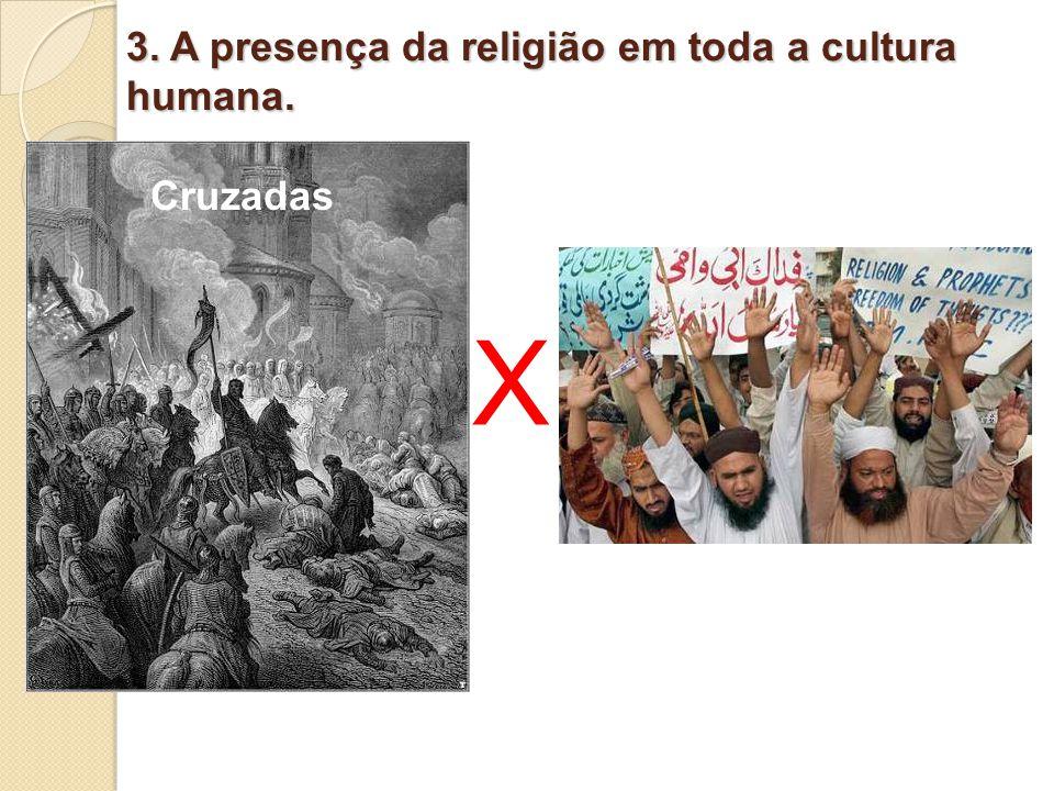3. A presença da religião em toda a cultura humana.
