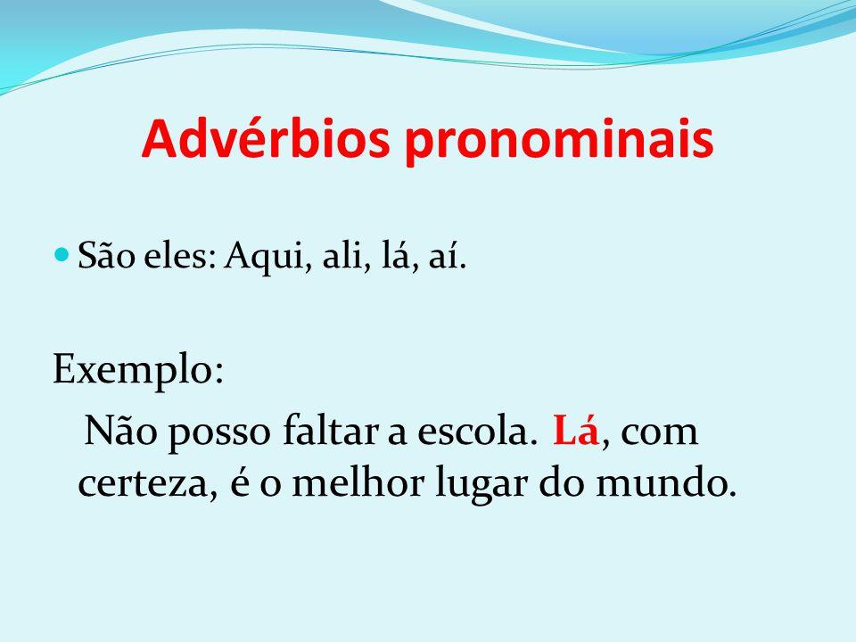 Advérbios pronominais