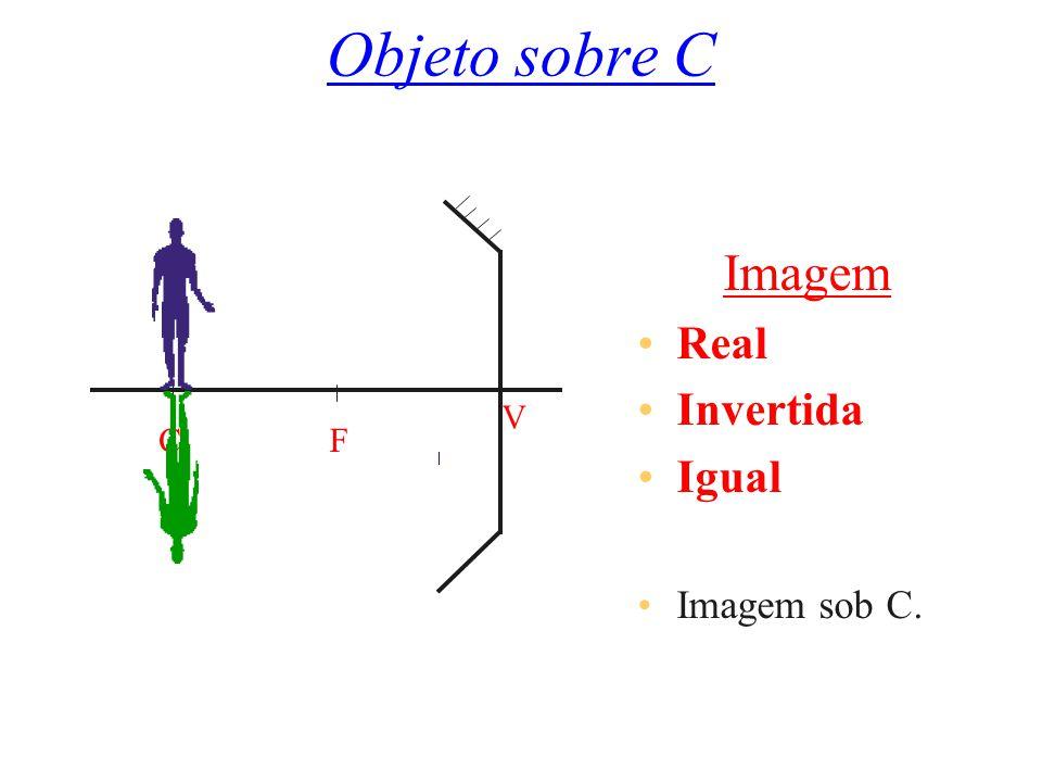 Objeto sobre C C F V Imagem Real Invertida Igual Imagem sob C.