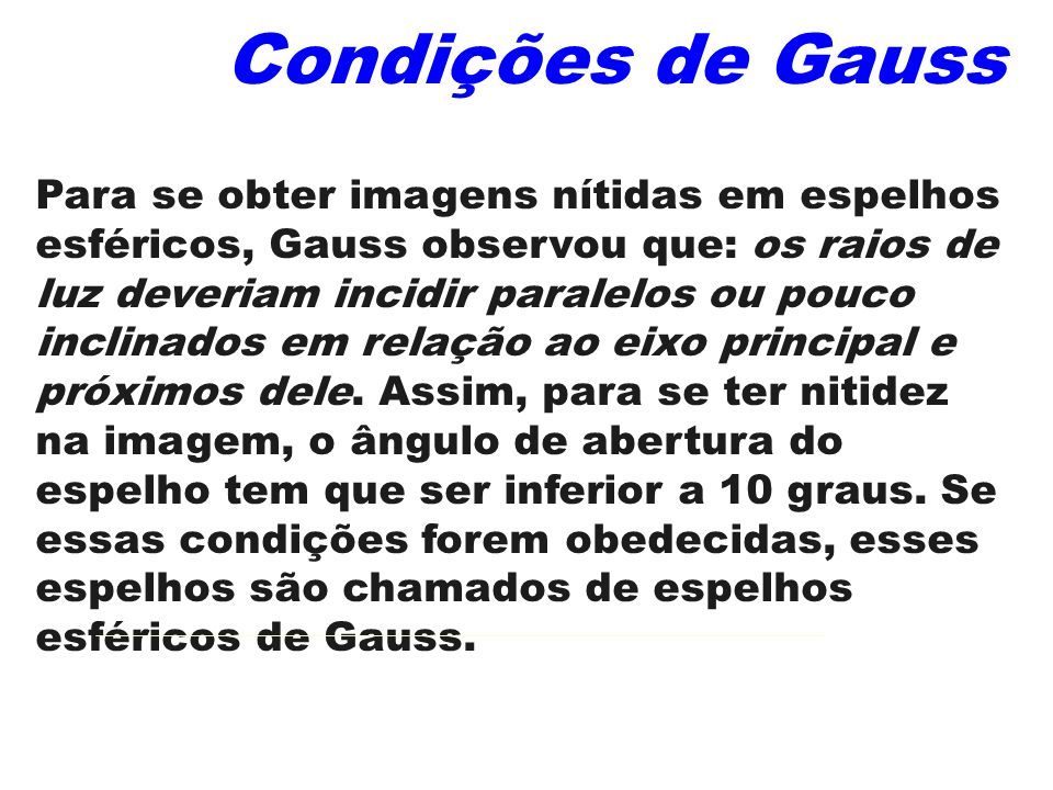 Condições de Gauss