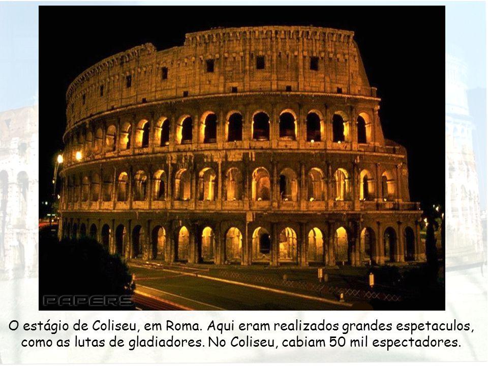 O estágio de Coliseu, em Roma