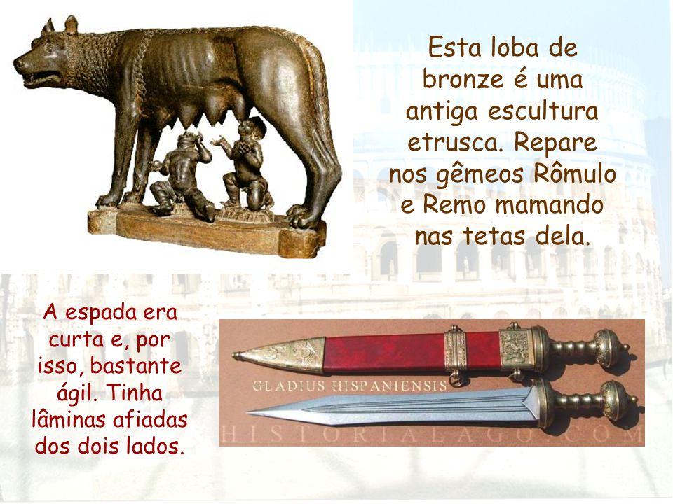 Esta loba de bronze é uma antiga escultura etrusca