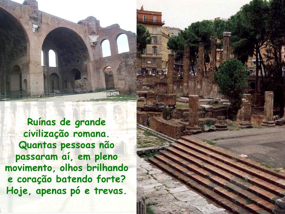 Ruínas de grande civilização romana