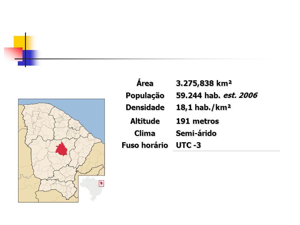 Área 3.275,838 km². População. 59.244 hab. est. 2006. Densidade. 18,1 hab./km². Altitude. 191 metros.