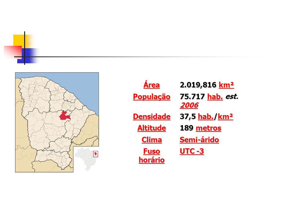 Área 2.019,816 km². População. 75.717 hab. est. 2006. Densidade. 37,5 hab./km². Altitude. 189 metros.