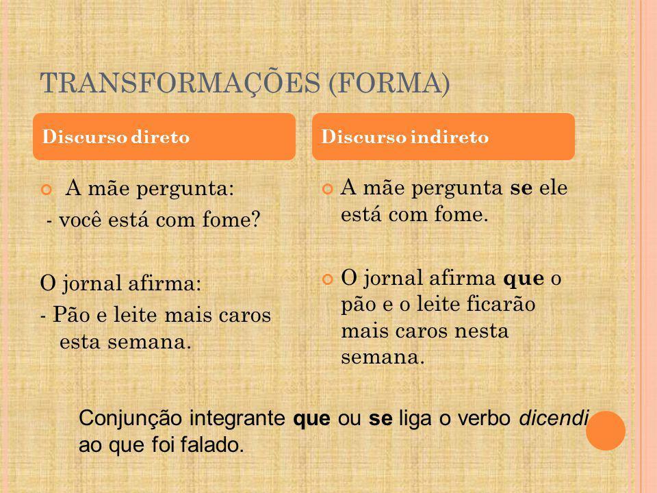 TRANSFORMAÇÕES (FORMA)