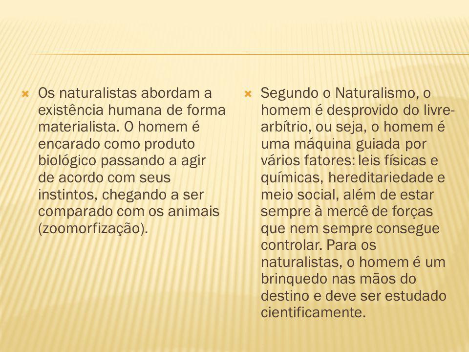Os naturalistas abordam a existência humana de forma materialista