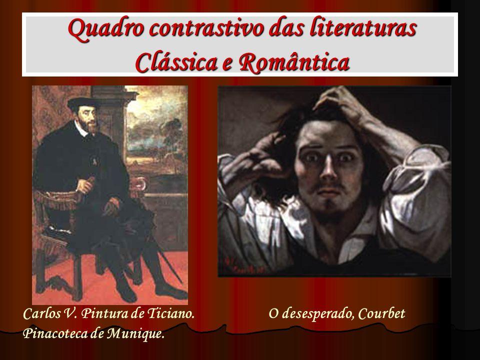 Quadro contrastivo das literaturas Clássica e Romântica