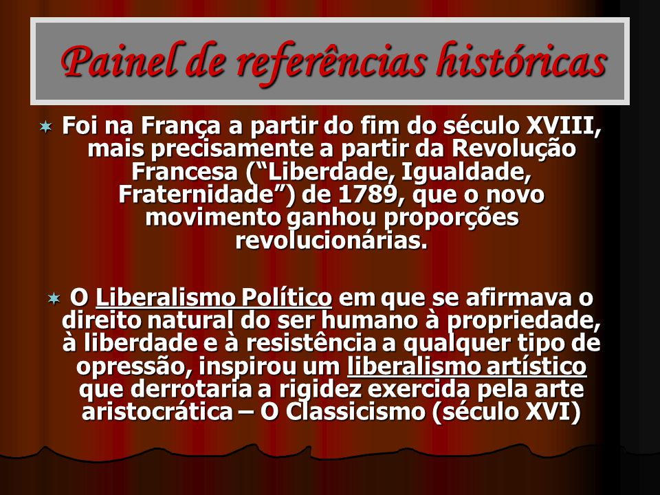 Painel de referências históricas