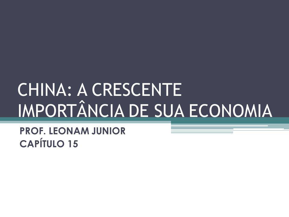CHINA: A CRESCENTE IMPORTÂNCIA DE SUA ECONOMIA