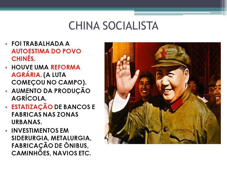 CHINA SOCIALISTA FOI TRABALHADA A AUTOESTIMA DO POVO CHINÊS.