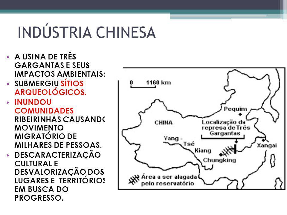 INDÚSTRIA CHINESA A USINA DE TRÊS GARGANTAS E SEUS IMPACTOS AMBIENTAIS: SUBMERGIU SÍTIOS ARQUEOLÓGICOS.
