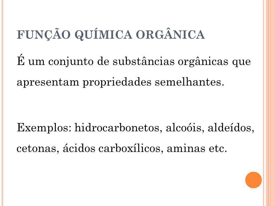 FUNÇÃO QUÍMICA ORGÂNICA